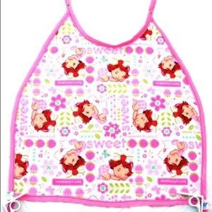 Other - NWOT Mess-less bib clips to table. Pink strawberry